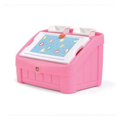 box & art 2 в 1: комод для игрушек и поверхность для творчества BOX & ART, 48х78х48см, розовый