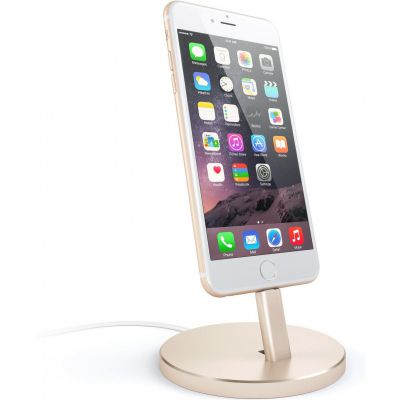 Satechi Aluminum Desktop Charging Stand Gold for iPhone (ST-AIPDG)