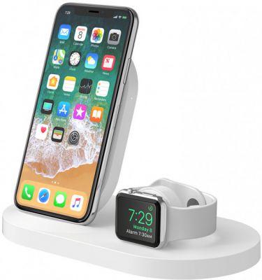 belkin Belkin Qi Wireless Apple Watch + iPhone + USB White (F8J235VFWHT)